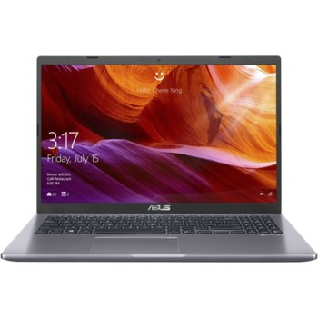"Лаптоп Asus M509DA-EJ231 (90NB0P52-M10450)(сив), четириядрен Zen 2 AMD Ryzen 7 3700U 2.3/4.0GHz, 15.6"" (39.62 cm) Full HD Anti-Glare Display, (HDMI), 16GB DDR4, 512GB SSD, USB 3.2 Type C, Free DOS, 1.9 kg image"