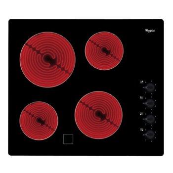 Стъклокерамичен плот за вграждане Whirlpool AKM9010/NE, 6200W, 4 нагревателни зони, индикатор за остатъчна топлина, черен image
