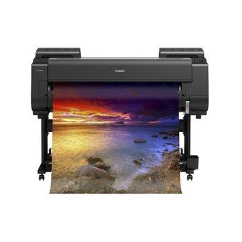 """Плотер Canon imagePROGRAF PRO-4000S в комплект с Roll Unit RU-41, клас 12-цветен 44"""" (1118 mm), 2400x1200 dpi, 3GB RAM, 320GB твърд диск, Wi-Fi, LAN 10/100/1000Base-TX, USB, A0, 3.5"""" (8.89 cm) цветен сензорен панел image"""