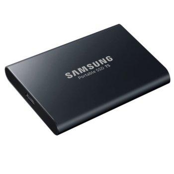 """Памет SSD 1TB Samsung Portable SSD T5 MU-PA1T0B/EU, USB 3.1 Type C, 2.5""""(6.35 см), скорост на четене 540 MB/s, скорост на запис 540MB/s, черен image"""