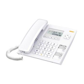 """Стационарен телефон Alcatel Temporis 56, дисплей, функция """"свободни ръце"""", бутон """"mute"""", бял image"""