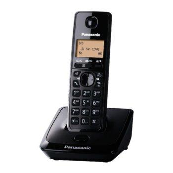 """Безжичен телефон Panasonic KX-TG 2711, 1.4""""(3.56 cm) монохромен дисплей, черен image"""