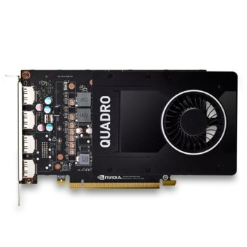 Видео карта Nvidia Quadro P2000, 5GB, PNY VCQP2000-PB, PCI-E 3.0, GDDT5, 160-bit, 4x Display Port image