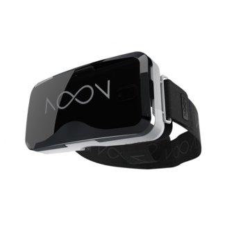 """Очила за виртуална реалност NoonVR, 3D ефект, Tap UX технология, съвместими със смартфони с диагонал от 4.7"""" до 6"""", бели image"""