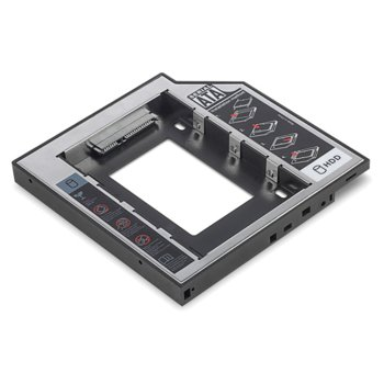 "Кутия заместител на CD/ DVD/ Blu-ray на лаптоп 2.5"" (6.35 cm) ASSMANN DIGITUS DA-71109, за 2.5"" хард диск, до 12.7 мм image"