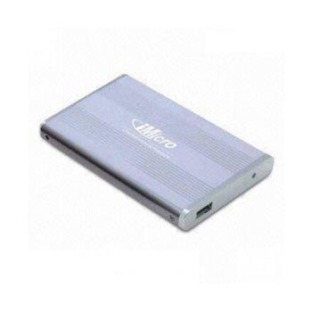 """Кутия 2.5"""" (6.35 cm), алуминиева, SАTА2 към USB2.0, захранване през USB image"""