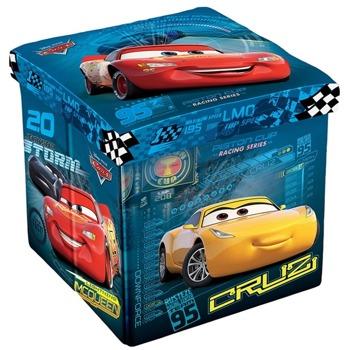 Табуретка Disney Cars, до 150кг, текстил, MDF основа, 3в1, сгъваема, синя image