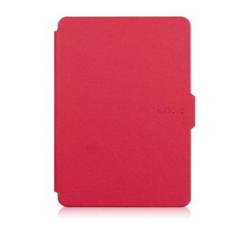 Калъф за електронна книга Kindle (2014), червен, в пакет с протектор за екран и stylus pen image