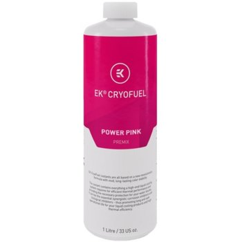 Течност за водно охлаждане Ekwb EK-CryoFuel Power Pink Premix, 1000ml, розова image