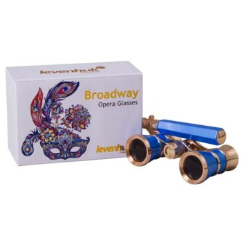Бинокъл Levenhuk Broadway 325L, 3x оптично увеличение, за театър, син image
