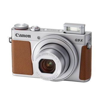 "Фотоапарат Canon Powershot G9 X Mark II(сребрист), 3x оптично увеличение, 20.1 Mpix, 3.0"" (7.62cm) LCD сензорен дисплей, Wi-Fi, micro HDMI (TypeD), USB micro(TypeB), SDXC слот image"