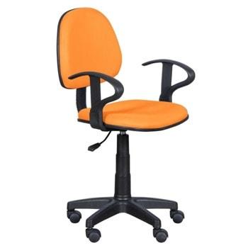 Детски стол Carmen 6012 MR, до 70кг, мрежа, полипропиленова база, газов механизъм за регулиране на височината, газов амортисьор, оранжев image