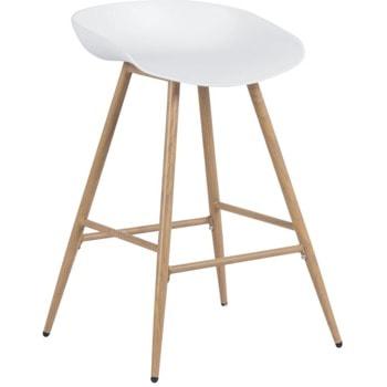 Бар стол Carmen 3086, полипропиленова база, 100 кг. максимално натоварване, бял image