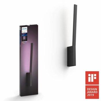 LED стенна лампа Philips Hue 40902/30/P7, 12W, 100V, 900 lm, черна image