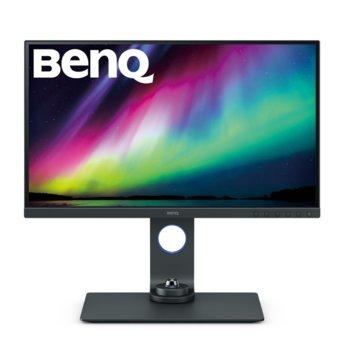 """Монитор BenQ SW270C (9H.LHTLB.QBE), 27"""" (68.58 cm) IPS панел, WQHD, 5ms, 20 000 000:1, 300cd/m2, Display Port, HDMI, USB Type C image"""