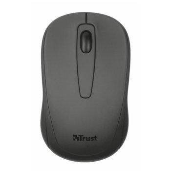 Мишка TRUST Ziva Wireless, оптична, безжична, USB, черна, 8 метра радиус image