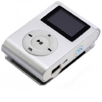 MP3 плейър Mod 801 DISPLAY White, слот за SD карта, бял image