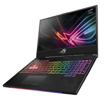 "Лаптоп Asus ROG Strix GL504GM-ES164(90NR00K1-M05120), шестядрен Coffee Lake Intel Core i7-8750H 2.2/4.1 GHz, 15.6"" (39.62 cm) FHD IPS 144Hz Display & GF GTX 1060 6GB,(mDP), 8GB DDR4, 1TB HDD & 256GB SSD, USB C, Free DOS, 2.42 kg image"