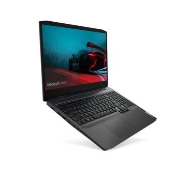 "Лаптоп Lenovo IdeaPad Gaming 3 15ARH05 (82EY009XRM), осемядрен AMD Ryzen 7 4800H 2.9/4.2GHz, 15.6"" (39.62 cm) Full HD IPS Anti-Glare Display & GF GTX 1650 Ti 4GB, (HDMI), 8GB DDR4, 512GB SSD, 1x USB 3.1 Type C, FreeDOS  image"