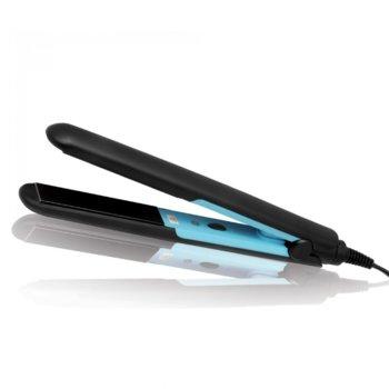 Преса за коса Sapir SP 1101 F, керамично покритие, светлинен индикатор, защита против прегряване, черна/синя image