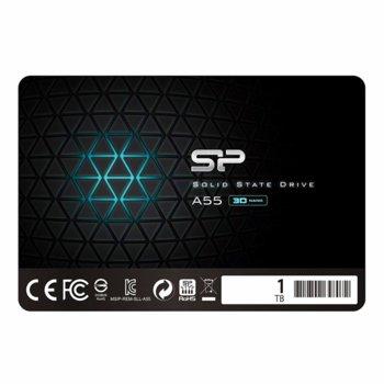 "Памет SSD 1TB Silicon Power Ace A55, SATA 6Gb/s, 2.5"" (6.35cm), скорост на четене 560 MB/s, скорост на запис 530MB/s image"