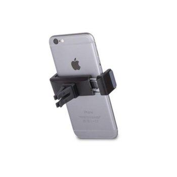 "Поставка радиатор в кола Moshi Car Vent Mount, iPhone 6S/6S+/5/5S/4/4S, Galaxy Note 1/2/3/4/5/7 S7/S7 Edge/S6 и мобилни телефони 9см ширина и дисплей 6""(15.2cm), черна image"