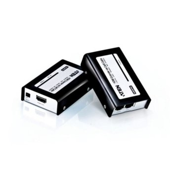 HDMI екстендър Aten VE800, от HDMI(ж) към HDMI(ж), усилва видео сигналa по LAN (RJ-45) мрежата, до 60м, до 1920 x 1200 резолюция, 2 устройства image