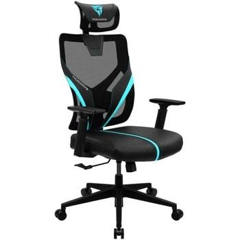 Геймърски стол ThunderX3 YAMA1 (GAGC-223), до 150кг. макс тегло, еко кожа, газов амортисьор, коригиране на височината, черен/син image