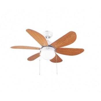 Вентилатор за таван с лампа Cecotec Energy Silence Aero 360, 132 см, 3 степени, 50W, клас А, кафяв image