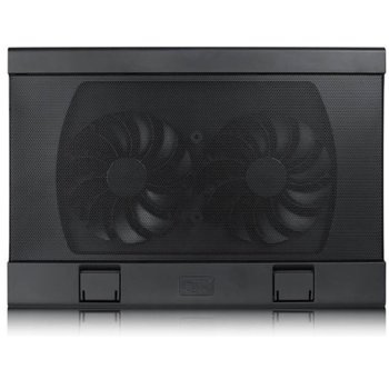 "Охлаждаща поставка за лаптоп DeepCool Wind Pal FS, за лаптоп до 15.6""(39.62cm), 2бр. вентилатори, 2x USB, черна image"