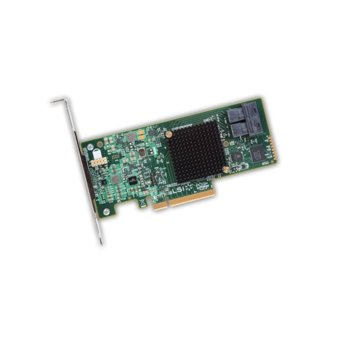 Контролер Broadcom SAS 9300-8I, от PCI-Express 3.0 x8(м) към 2x MiniSAS HD SFF8643(ж), SATA/SAS 6Gb/12Gb/s, Fusion MPT 2.5 image