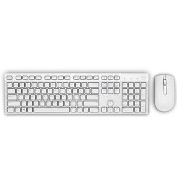 Комплект клавиатура и мишка Dell KM636, безжични, оптична мишка , бели image