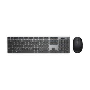 Комплект клавиатура и мишка Dell KM717, безжични, 2.4 GHz, сиви image