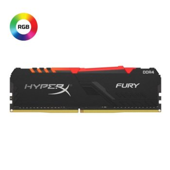 Памет 8GB DDR4, 2666Mhz, Kingston HyperX Fury RGB, HX426C16FB3A/8, 1.2 V image