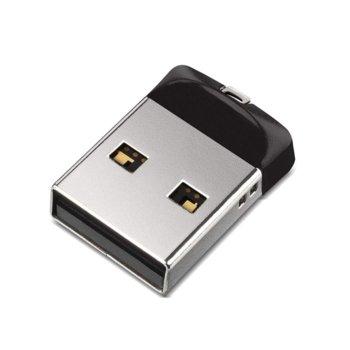 Памет 16GB USB Flash Drive, SanDisk Cruzer Fit, USB 2.0, черна image