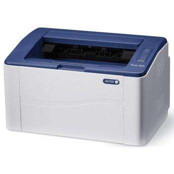 Лазерен принтер Xerox Phaser 3020, 600x600dpi, 20стр/мин, 128MB, Wi-Fi, USB, A4 image