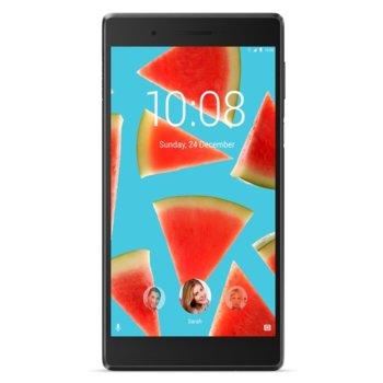 "Таблет Lenovo Tab 7 (ZA380001DE)(черен), 4G LTE, 7"" (17.78 cm) HD IPS дисплей, четириядрен MediaTek MTK MT8735 1.3GHz, 2GB DDR3, 16GB Flash памет (+ microSD слот), 5.0 & 2.0 MPix камера, Android, 254g image"
