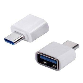 Адаптер, USB(ж) - Type C(м), OTG черен image