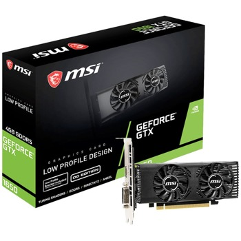 Видео карта Nvidia GeForce GTX 1650, 4GB, MSI LP OC, GDDR5, 128bit, DVI-D, HDMI image