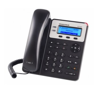 "VoIP телефон Grandstream GXP1625, 2.95""(7.493cm) LCD дисплей, 2 линии, 2x LAN10/100, PoE, черен image"