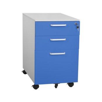 Шкаф Carmen CR-1273 L SAND, 3бр. рафтове, пясъчно покритие,прахово боядисан метал, син image