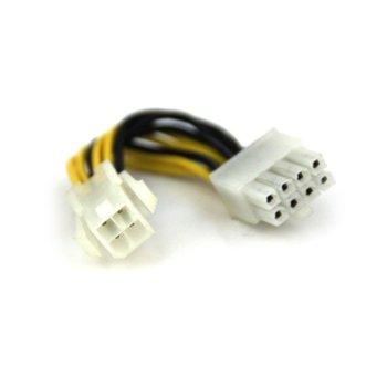 Захранващ кабел VCom CE312 ATX 4pin(м)(ATX) към 8pin(м)(EPS), 0.15m image