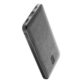 Външна батерия /power bank/ Cellularline Shade (PBSTYLE5000B), 5000mAh, 1x USB-A, 1x USB-C, 1x USB-Micro, черна image