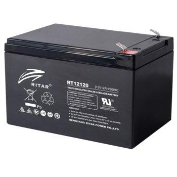 Акумулаторна батерия Ritar Power RT12120, 12V, 12Ah, AGM image