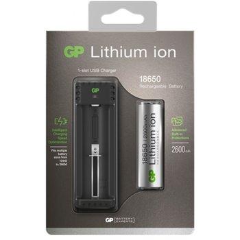 Зарядно устройство GP batteries L111, за батерии CR18650, Li-ion, USB image