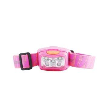 Челник GP LOE213PAU, 3x AAA батерии, 35 lumens, челен, розов image