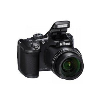 "Фотоапарат Nikon CoolPix B500(черен) с подарък чанта Nikon Case P-08(черно), 40x оптично увеличение, 16 Mpix, 3.0"" (7.62cm) LCD дисплей, Bluetooth 4.1, Wi-Fi, HDMI(Type D), micro USB, SDXC слот image"