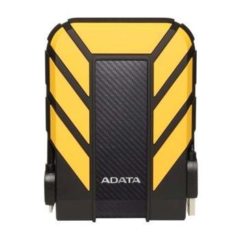 """Твърд диск 1TB A-Data HD710P(жълт), външен, 2.5"""" (6.35 см), USB 3.1 image"""