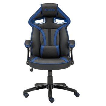 Геймърски стол INAZA Cobra, газов амортисьор клас 3, черен/син image