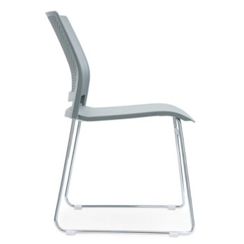 Посетителски стол RFG Gardena M, пластмасов, сива седалка, сива облегалка, 4 броя в комплект image